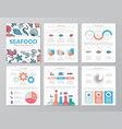 set of colored fish and sea food elements for vector image vector image