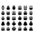 silhouettes fire flames vector image