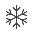 snowflake icon in flat style isolated on white vector image vector image