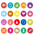 Sound flat icons on white background vector image vector image