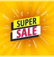 special offer super sale bright banner vector image