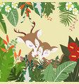 sweet couple deer in botanical tropical forest vector image vector image