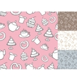 Vintage Bakery Seamless patternbakcgroundHand vector image