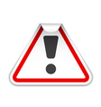 warning sticker vector image vector image