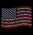 waving american flag stylized composition of pride vector image vector image