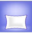 White Soft Pillow vector image