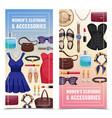 women accessories vertical banner set vector image vector image