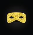 Magic gold mask vector image