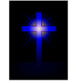 blue cross background vector image