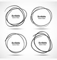 Set of Hand Drawn Scribble Circles design elements