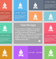 A fire icon sign Set of multicolored buttons with vector image vector image