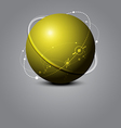 abstract sphere science concept vector image