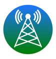 antenna sign white icon in vector image vector image