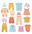 baby apparel flat girl shirt socks and clothes vector image