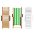 beach lounger top view vector image vector image