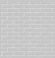 brick wall gray seamless background vector image