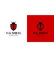 bug shield logo premium vector image