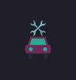 Car service computer symbol vector image vector image