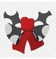 Cartoon black bow vector image