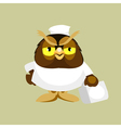 cartoon owl doctor paramedic vector image