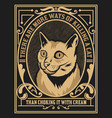cat label western style vector image vector image