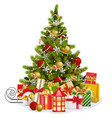christmas fir tree with lollipops vector image vector image