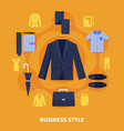 clothes colored composition vector image vector image