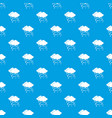 cloud and snow pattern seamless blue vector image vector image