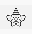 clown toy icon on white background line style vector image vector image