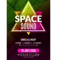 Club electronic space sound music poster Musical vector image vector image