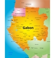 color map of Gabon vector image vector image