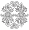 Coloring pages for adults Henna Mehndi Doodles vector image vector image
