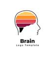 creative brain logo template abstract