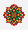 design flower mandala vintage vector image