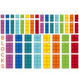 different colors and sizes of blocks vector image