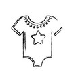 figure baby clothes that used to sleep vector image vector image