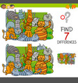 find differences with cats animal characters vector image vector image