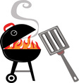 Fire Grill vector image vector image