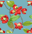 floral element on bright seamless background vector image vector image