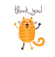 funny cat says thank you in vector image vector image