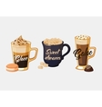 Glace coffee and portugal galao cup with sugar vector image vector image