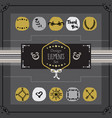 golden and gray emblems card design elements set vector image vector image