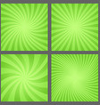 Green spiral and ray burst background set vector image vector image