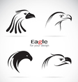 group of eagle head design vector image vector image