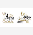 happy easter labels lettering set vector image vector image