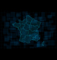 hud map france with regions cyberpunk vector image vector image
