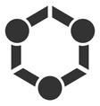 human union flat icon vector image vector image