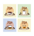 i love coffee concept collection vector image vector image
