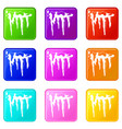 icicles icons 9 set vector image vector image