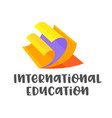 international education banner isolated on white vector image